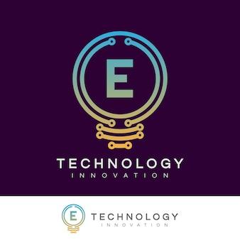 Technology innovation initial letter e logo design