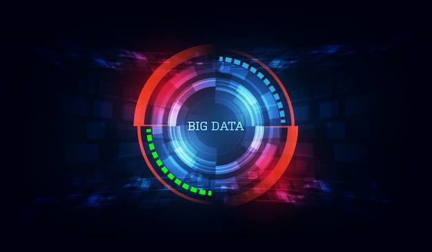 Technology innovative big data  background