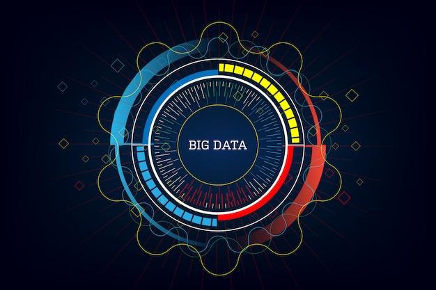 Technology innovative big data  background