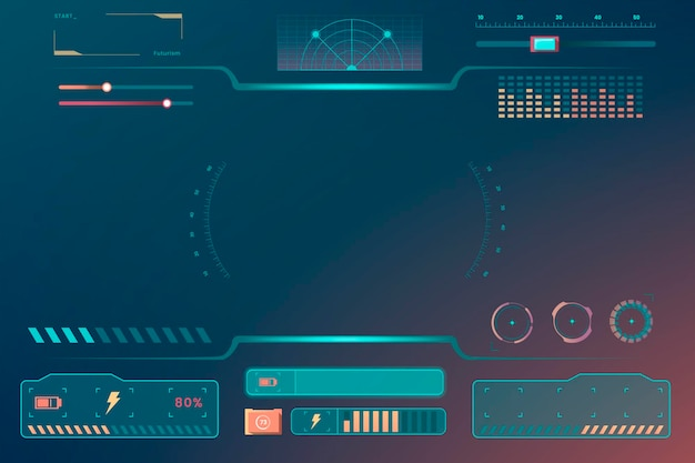 Technology interface template design elements