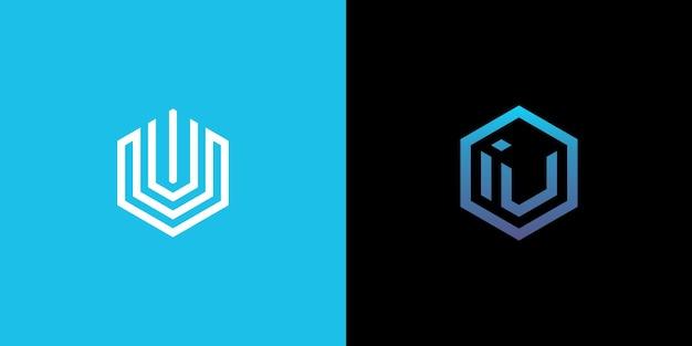 テクノロジーivロゴ、六角形ivロゴ