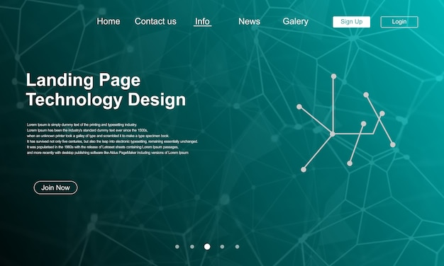 Technology landing page design with traffic background
