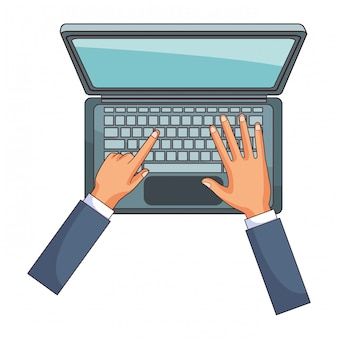 Technology laptop cartoon