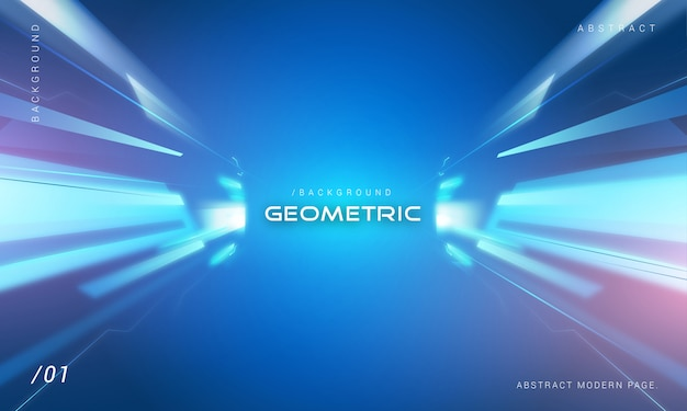 Technology light background with geometric shade