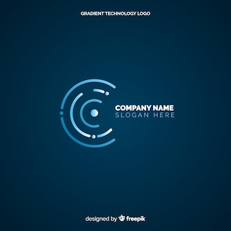 Technology logo background