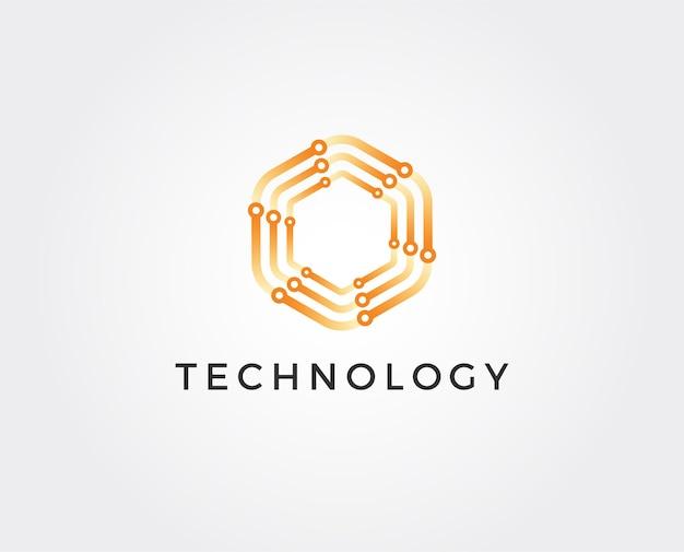 Шаблон дизайна логотипа технологии
