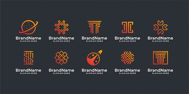 Technology logo. good for logo set, brand, advertising, , business, internet, and business card
