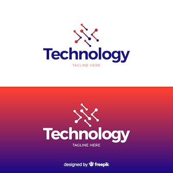 Technology logo in gradient style