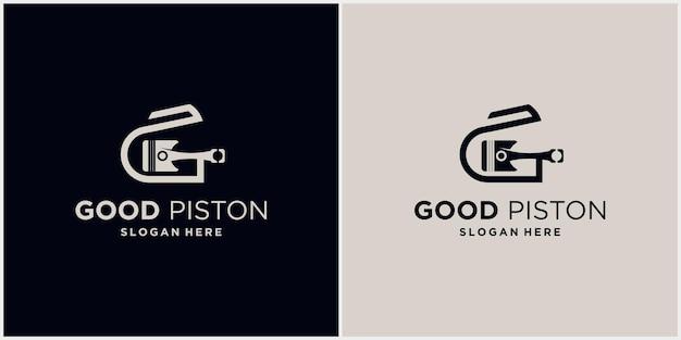 技術ロゴ頭文字gピストン自動車ロゴシンボルピストンロゴのベクトル図