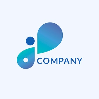 Logo tecnologico, marchio aziendale moderno per azienda digitale e vettore di avvio