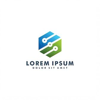 Шаблон логотипа технологии