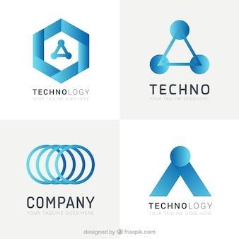 Технология шаблоны логотипов пакет