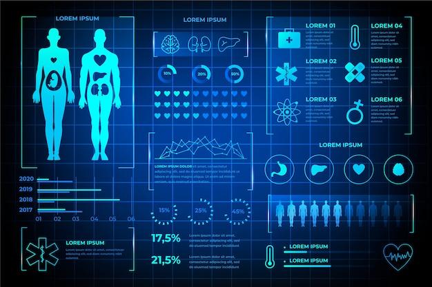 技術医療インフォグラフィックデザイン