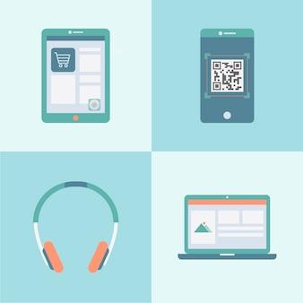 Technology notebook laptop set apps app
