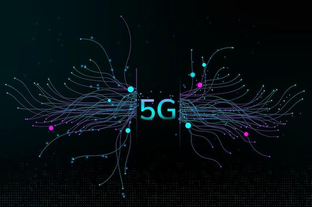 Технология частиц точек вектор 5g цифровой корпоративный фон