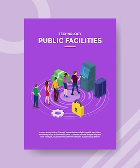 Technology public facilities flyer template