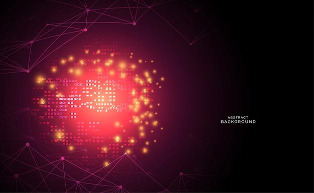 技術科学の背景美しいカラフルな接続デジタル