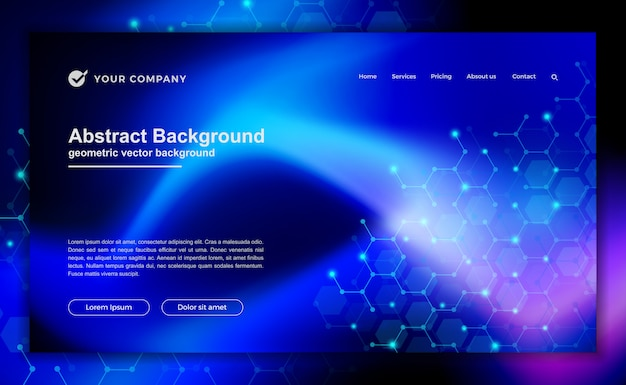 Technology, science, futuristic background for website designs or landing page.