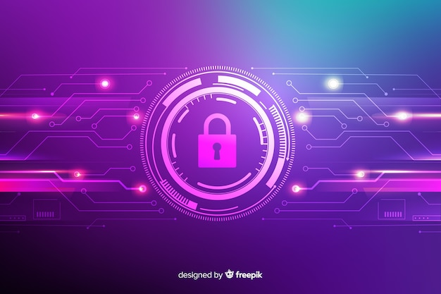 Technology secure abstract background