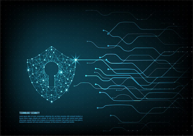 Technology security background
