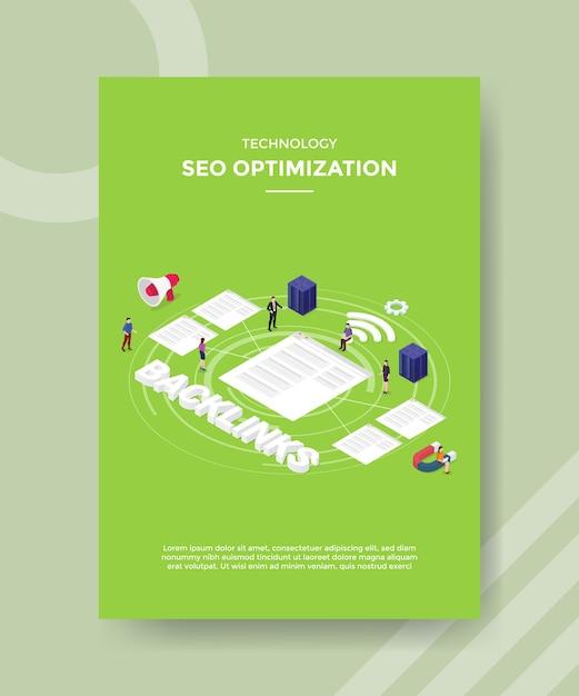 Technology seo optimization flyer template
