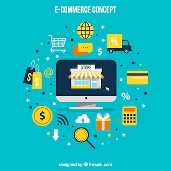 Ecommerce vectors photos and psd files free download for Design online shop