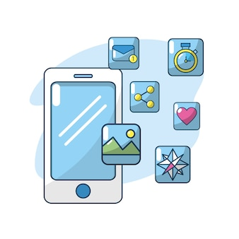 Technology smartphone apps connection server