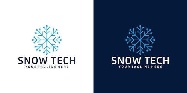Технология дизайна логотипа снежинки вдохновение