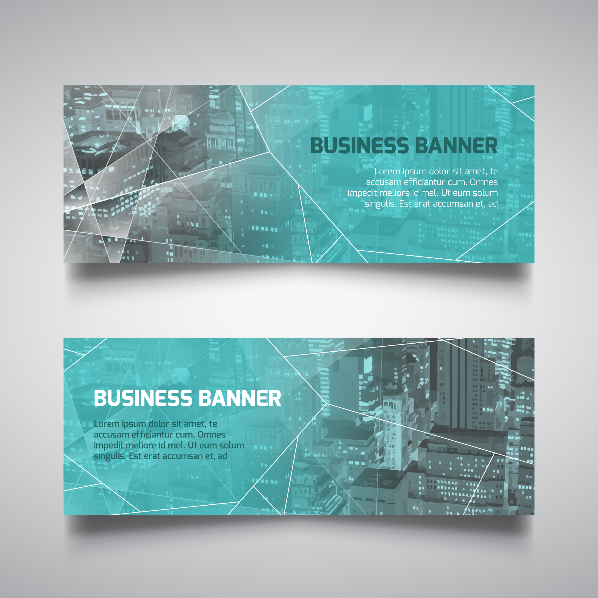Technology style banners for business