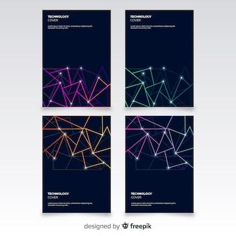 Technology style brochure set