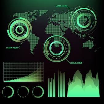 インフォグラフィックの技術スタイル