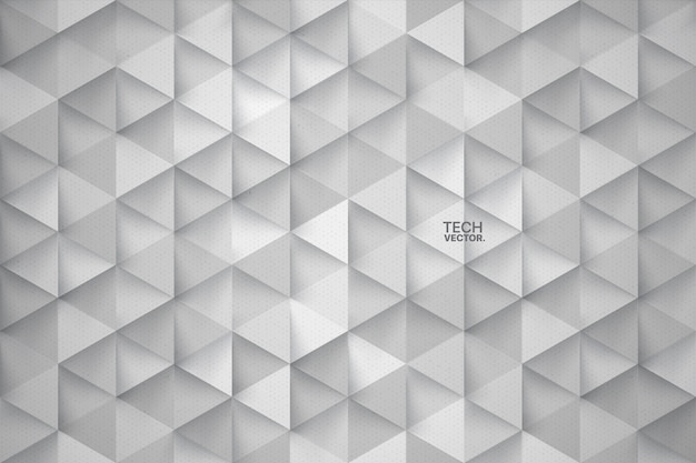 Technology triangles 3d abstract background