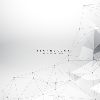 Technology triangles background