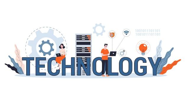 Вертикальные баннеры технологии. инновации и прогресс, автоматизация, будущее и знания. концепция прогресса. идея роста бизнеса. идем к успеху. линия иллюстрации