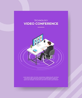 Technology video conference concept