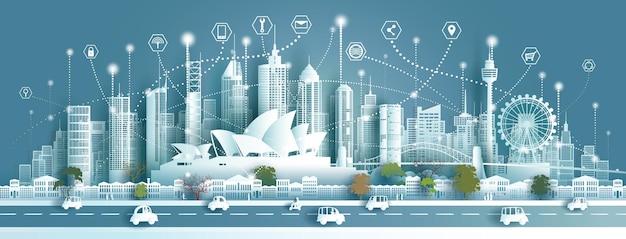 テクノロジーワイヤレスネットワーク通信スマートシティとアーキテクチャ