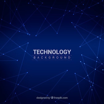 Tecnology background with night sky