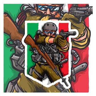 Tectical army shooting