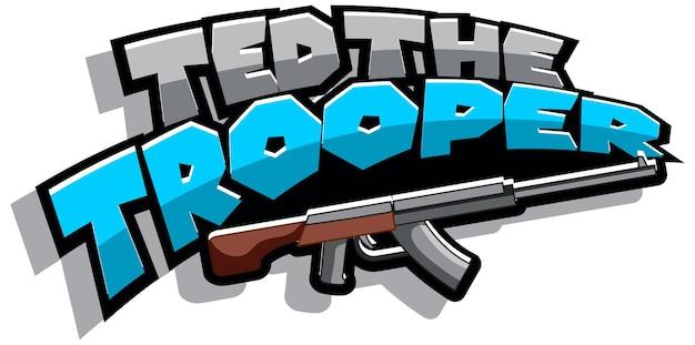 Ted trooper 로고 텍스트 디자인