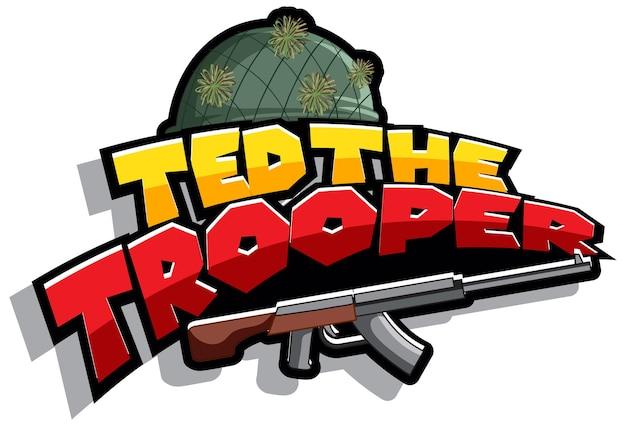 テッド・ザ・トルーパーのロゴテキストデザイン