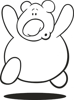 Teddy bear for coloring book