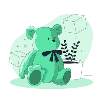 Teddy bear concept illustration