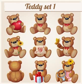 Teddy bears set.