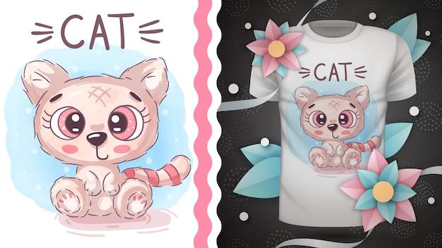 テディ猫-プリントtシャツのアイデア