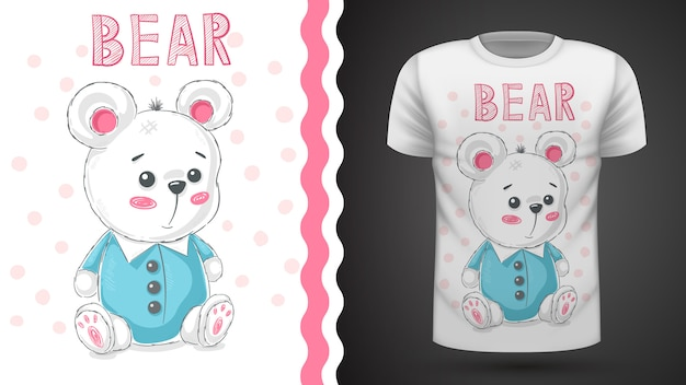 Teddy cute bear idea for print t-shirt