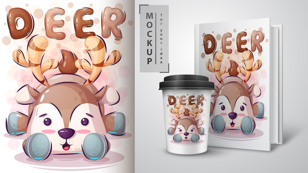Teddy dear poster and merchandising