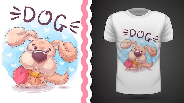 Teddy dog - идея для футболки с принтом