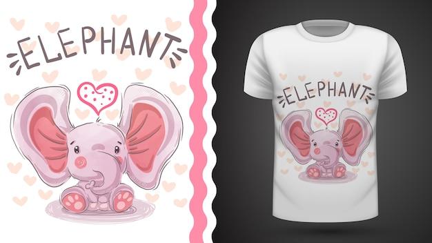 Teddy elephant - idea for print t-shirt