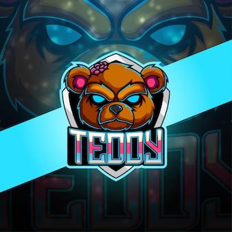 Teddy esport mascot logo