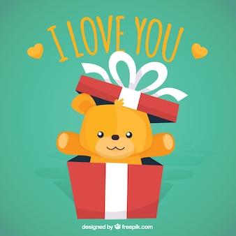 Teddy gift valentine